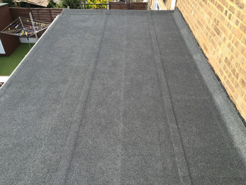 Grey Felt Roof in Stanford Le Hope